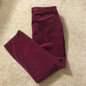 Women's Ave & Viv Corduroy Purple Ankle Pants 16W